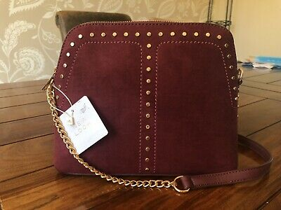 New Look Plum Cross Body Bag With Chain Strap And Stud Detail • 9.50£