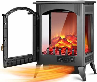 $179.95 • Buy Electric Fireplace Space Heater 1500W 750W Infrared Stove 3D Flame Large Room