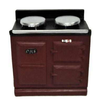 Dolls House 2 Oven Red Aga Stove Cooker Miniature Kitchen Furniture • 9.99£