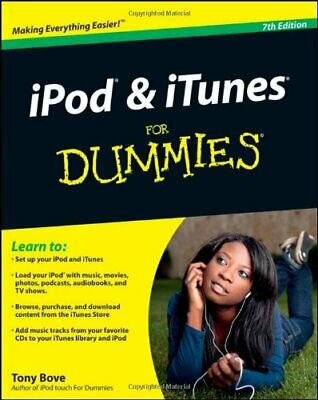 AU18.40 • Buy IPod And ITunes For Dummies (For Dummies (Lifestyles Paperback)) By Tony Bove