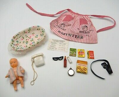 $ CDN7.23 • Buy Vintage Barbie Near Complete 1963-64 Baby Sits #953 Doll Outfit