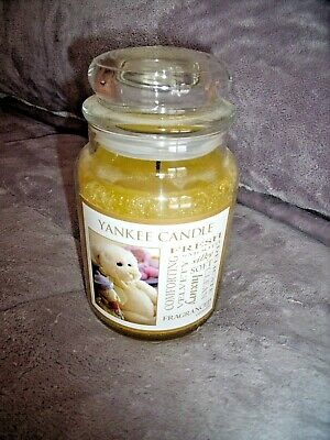 LARGE Yankee Candle VELVETY SOFT Jar CANDLE Baby Powder Scent Teddy Bear Label • 14.95£