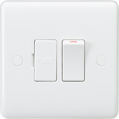 Knightsbridge Curved Edge 13A Switched Fused Spur Unit & Flex Outlet From Base • 7.76£