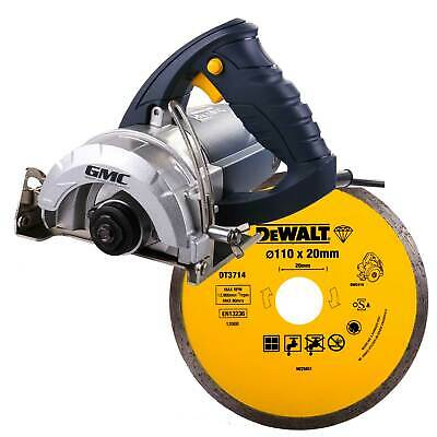 GMC Hand Held Wet Stone Cutter Saw Tile Cutting Machine Kit Dewalt Diamond Blade • 91.21£