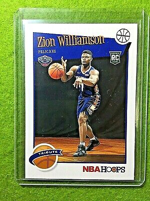 $29.95 • Buy ZION WILLIAMSON ROOKIE CARD JERSEY #1 PELICANS RC 2019-20 Panini HOOPS Rookie Rc