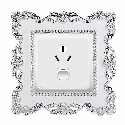 Resin Single Light Switch Surround Socket Plate Wall Sticker Cover Frame Decor  • 3.79£