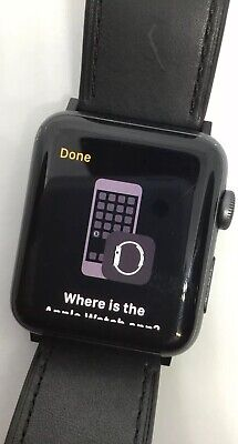 $ CDN222.17 • Buy Working Apple Watch Series 3 42mm Cellular GPS LTE Space Gray With Leather Band
