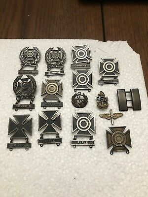 $ CDN1.30 • Buy Circa WWII Sterling Silver Military Lot -captain Marksman USNavy  + ++