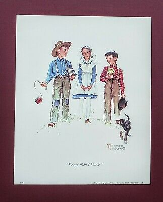 $ CDN10.99 • Buy Art Print, Young Man's Fancy, 1954, By Norman Rockwell, Small Size 8x10