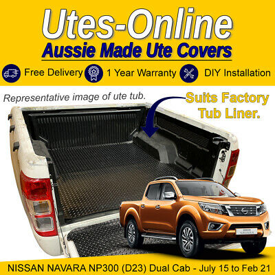 AU99.95 • Buy Checker Plate Rubber Ute Mat For NISSAN NAVARA NP300 (D23) DUAL CAB (Fits Liner)