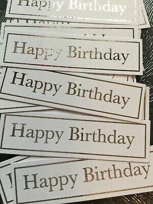 Happy Birthday X 50 Banners/captions/embellishments/toppers/card Making • 4£