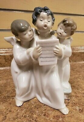 $59.99 • Buy *Lladro 4542  Group Of Angels  Porcelain Figurine 7  Tall Pre-owned