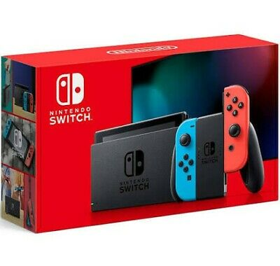 $ CDN359 • Buy Nintendo Switch 32GB Gray Console With Neon Red And Neon Blue Joy-Con