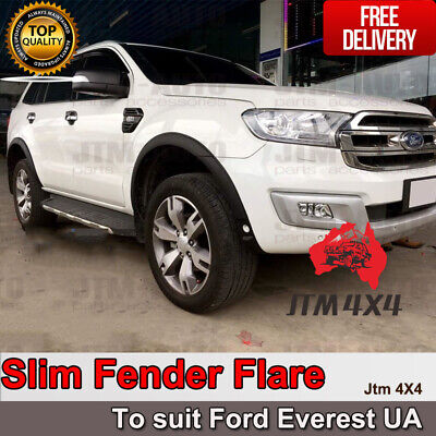 AU246.05 • Buy Slim Matte Black Fender Flares Wheel Arch To Suit Ford Everest UA 2015-2018