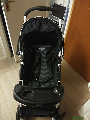 Graco Mirage Black Jack Travel System Single Seat Stroller • 30£