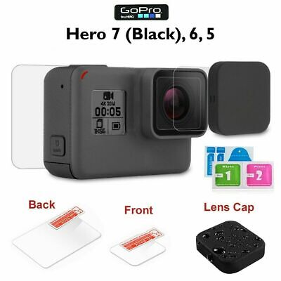 $ CDN8.45 • Buy GoPro Hero 7 (Black) 6 5 Tempered Glass Lens + Screen Protector + Soft Lens Cap