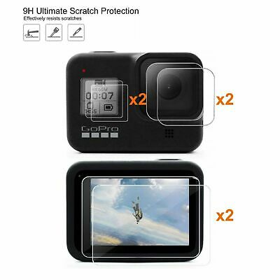 $ CDN10.21 • Buy 6Pc Tempered 9h Glass Screen & Lens Protector Protective For GoPro Hero 8 Black