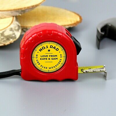 AU22.63 • Buy Personalised Tape Measure Gift Valentines Day For Him Dad Husband Any Text