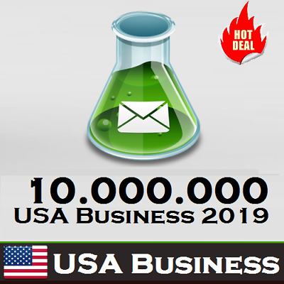 $10 • Buy 10M USA Database Companies/Business B2B With Address Phone Emails Leads Fresh