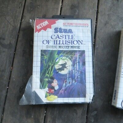 AU20 • Buy Castle Of Illusion Starring Mickey Mouse - Sega Master System SMS PAL