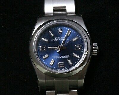 AU7999 • Buy Genuine Boxed Rolex Oyster Perpetual 24mm Blue Dial 2014 Watch Spare Link Papers