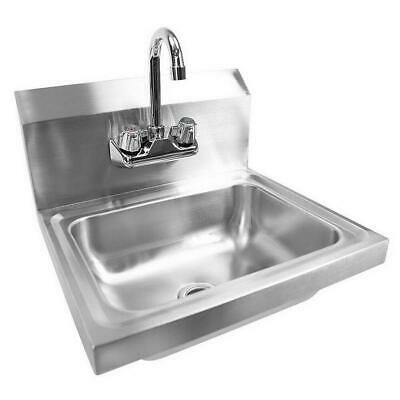 $79.99 • Buy 17  Commercial Wall Mount Kitchen Hand Wash Sink Stainless Steel With Faucet