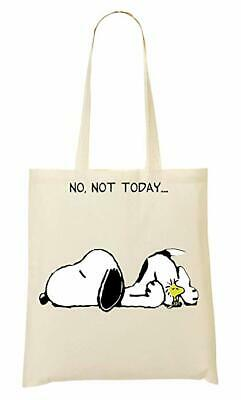 No Not Today Snoopy Dog  Themed Tote Bag-Cotton Shopping Bag.Birthday Gift • 9.99£