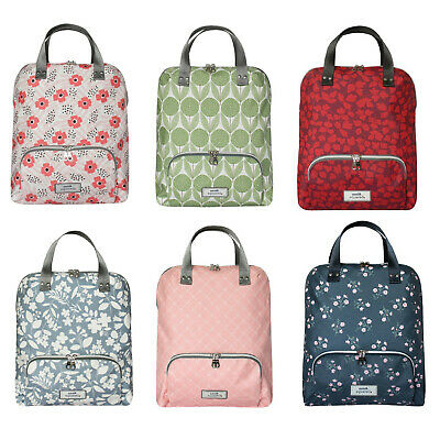 Earth Squared Oil Cloth Backpack In Bloom Cool Blue • 39.99£