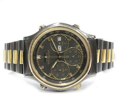 $ CDN250 • Buy Seiko Quartz Chronograph 7A38-725A Gold And Black Vintage Watch Circa. 1987