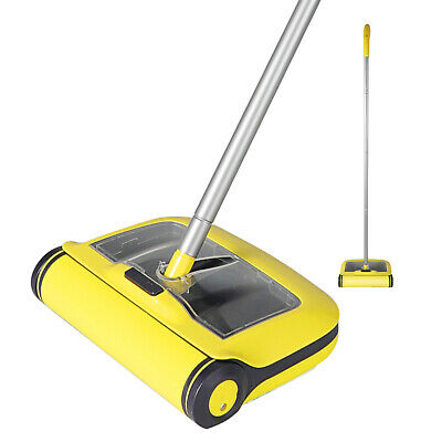 Manual Floor Sweeper Brush  Duster Broom Cordless Floor Cleaner • 17.99£