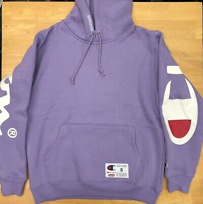 $ CDN294.50 • Buy Supreme Champion Hoodie Purple SS18 Size S Small