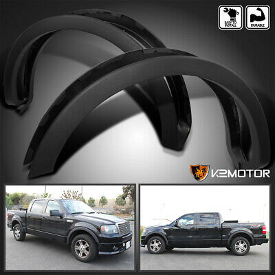 $70.66 • Buy Fit 2004-2008 Ford F150 Styleside Factory Style Wheel Covers Fender Flares Black
