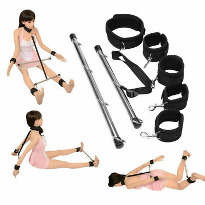 Valentine's Lockable Bondage Slave Spreader Bar Wrist Ankle Cuffs Restraints Toy • 15.40£