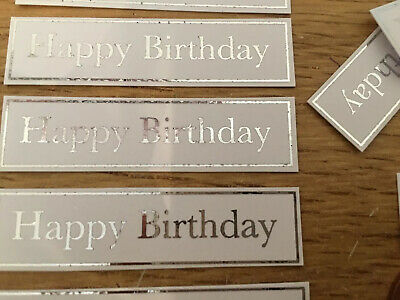 Happy Birthday X 20  Banners/embellishments/captions/toppers Card Making • 2£