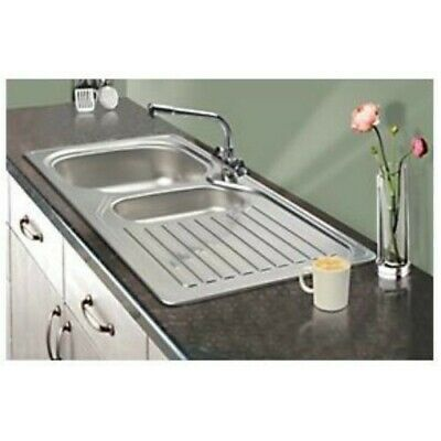 Franke Reno 18 / 10 Stainless Steel Inset Sink 1.5 Bowl 1000 X 500mm • 74.99£