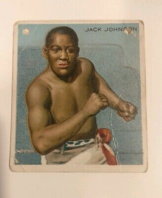 $25.99 • Buy  1910 HASSAN JACK JOHNSON BOXING CARD Original Poor Condition Free Shipping