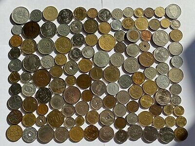 Job Lot Old British Europe World Coins Mixed Unsorted Foreign Lot E1 • 7.50£