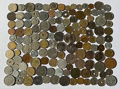 Job Lot Old British Europe World Coins Mixed Unsorted Foreign Lot E2 • 7.50£