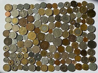 Job Lot Old British Europe World Coins Mixed Unsorted Foreign Lot E4 • 7.16£