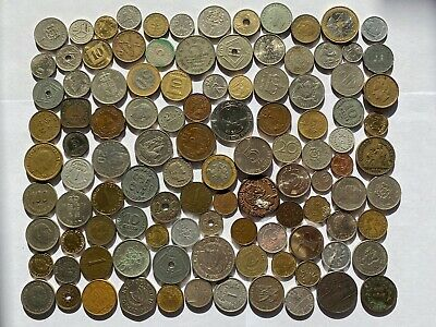 Job Lot Old British Europe World Coins Mixed Unsorted Foreign Lot E5 • 5.51£