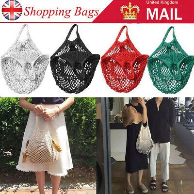 Mesh Net Turtle Bag String Shopping Bag Reusable Fruit Storage Handbag Totes ME • 4.99£