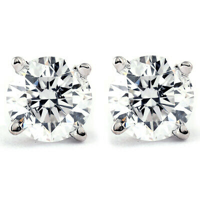 View Details 1/4 Ct TDW Genuine Diamond Studs Available In 14k White Or Yellow Gold • 84.59$