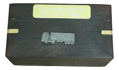Articulated Lorry Wooden Dominoes In Wood Box FREE ENGRAVING Driving Gift 446 • 24.99£