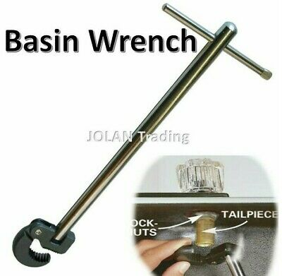 £8.99 • Buy Adjustable Basin Tap Nut Wrench Plumbers Spanner Tool Back Nut Union Sink 0308*