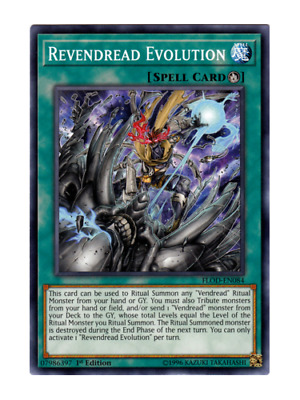 AU1 • Buy Revendread Evolution X 3 (Playset) Near Mint Condition YUGIOH Cards