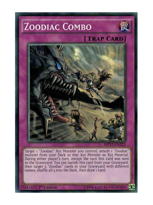 AU1 • Buy Zoodiac Combo X 3 (Playset) Near Mint Condition YUGIOH Cards