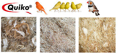 £5.99 • Buy *new* 100g Quiko Quality Nesting Material Small Bird Finch Coco Sisal 3 Types