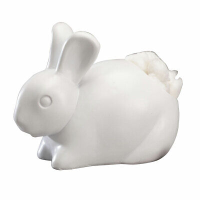 $18.98 • Buy White Cotton Tail Bunny Rabbit Cotton Ball Cosmetic Puff Dispenser Resin +