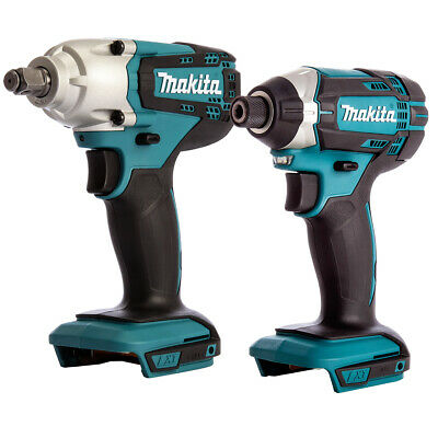 Makita DTD152Z 18V LXT Cordless Impact Driver With Makita DTW190Z Impact Wrench • 140£
