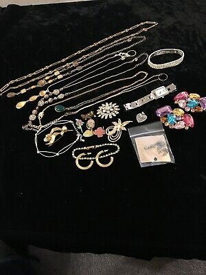 Joblot Costume Jewellery Boss Watch And Brooches • 7£